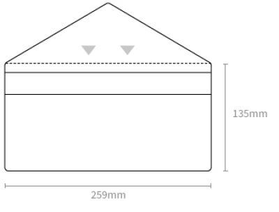 Envelope Ticket Wallet Dimensions